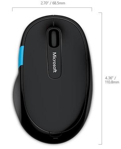 Microsoft Sculpt Comfort Mouse - BlueTrack™ - Bluetooth - Fekete1