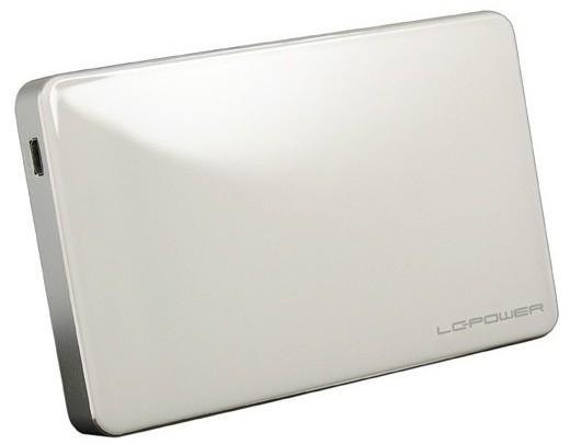 "LC-Power LC-25U3W-Elektra Fehér USB 3.0 HDD ház 2.5"""
