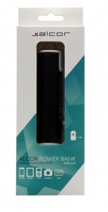 Alcor D2600 Ezüst Powerbank