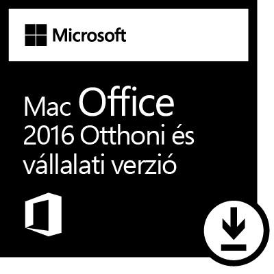 Microsoft Office 2016 MAC Otthoni és kisvállalati verzió ESD licensz_