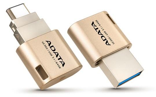 ADATA 16GB USB3.1 Type-C Arany pendrive