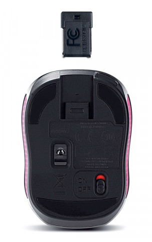 Genius Micro Traveler 9000R V3 Wireless egér - Fekete-Ciklámen