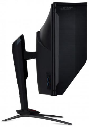"""Acer Predator XB273KPbmiphzx G-Sync Monitor 27"""" 4K UHD szemből_logo"""
