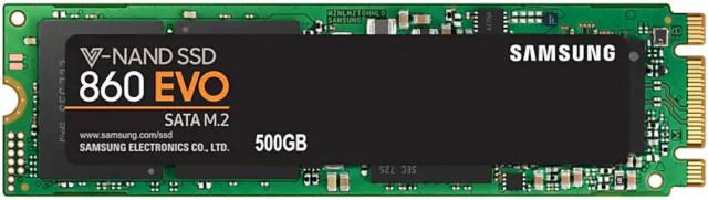 Samsung 500GB SSD SATA3 M.2 860 EVO MZ-N6E500BW