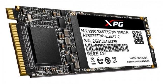 ADATA XPG SX6000 Pro SSD 256GB PCIe Gen3x4 M.2 2280