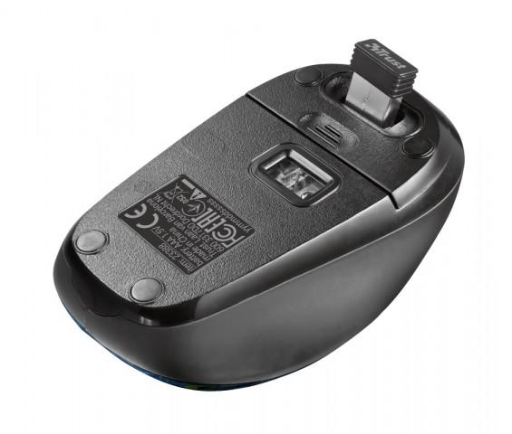 Trust Yvi Wireless Mouse vezeték nélküli páva mintás egér