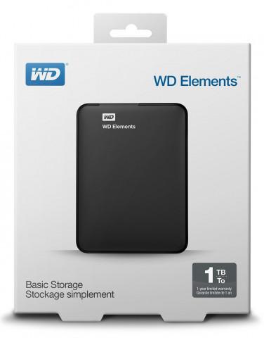 WD Elements Portable 1TB USB 3.0 Fekete külső HDD