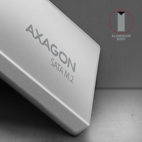 Axagon EEM2-U3C Type-C 3.2 SATA M.2 SSD 5Gbit/s külső ház