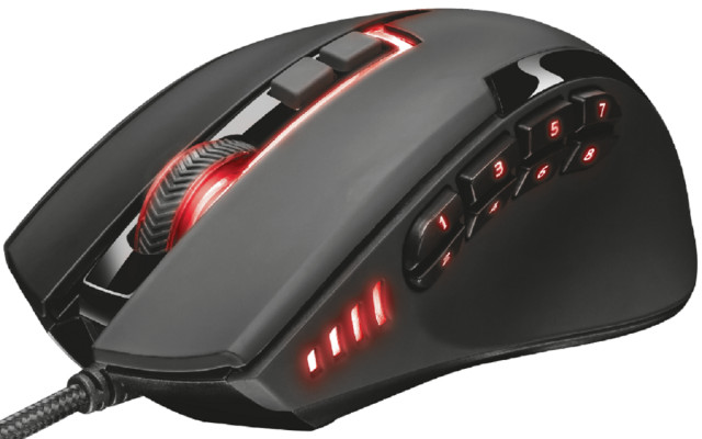 Trust GXT 164 Sikanda MMO RGB Gaming Egér