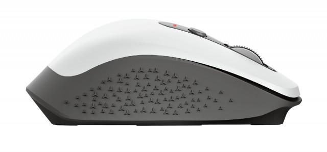 Trust Ozaa újratölthető ergonomikus vezeték nélküli egér - fehér