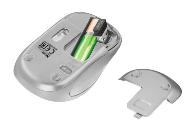 Trust Yvi FX Wireless Mouse vezeték nélküli fehér egér