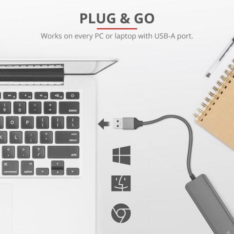 Trust HALYX 4-PORT USB3.2 hub