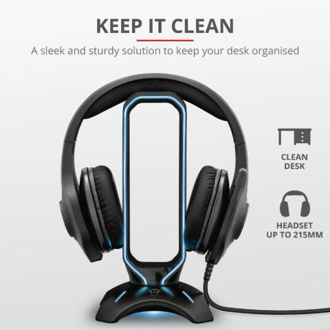 Trust GXT265 Cintar RGB Headset állvány