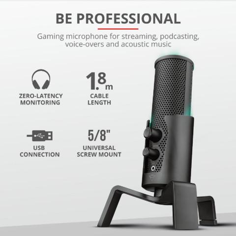 Trust GXT258 Fyru USB 4 az 1-ben streaming mikrofon