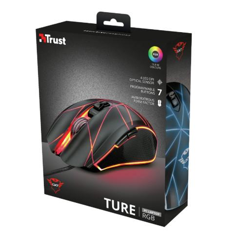 Trust GXT 160 Ture RGB gamer egér