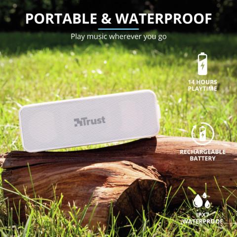 Trust Zowy Max vezeték nélküli Bluetooth hangszóró - Fehér