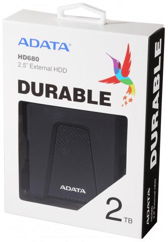 """ADATA HD680 2,5"""" 2TB USB3.2 ütésálló fekete külső winchester"""