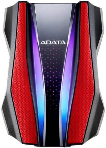 """ADATA AHD770G 2,5"""" 2TB USB3.2 RGB ütés és vízálló piros külső winchester"""
