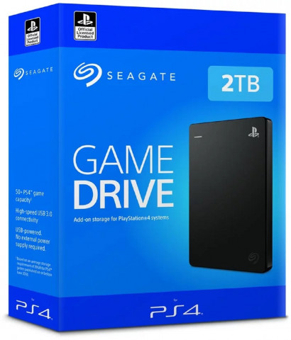 """Seagate 2TB Game Drive 2,5"""" PS4-hez Fekete"""
