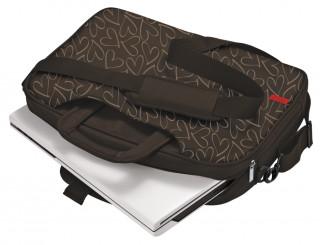 """Trust Oslo 16"""" barna mintás notebook táska"""