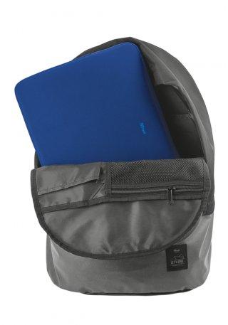 """Trust Primo Soft Sleeve 13.3"""" Kék notebook tok kinyitva felülről"""