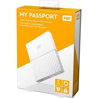 Western Digital My Passport 1TB USB 3.0 Fehér jobbról