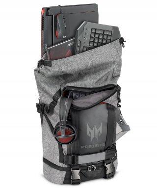 "Acer Predator Gaming Rolltop 15,6"" szürke-fekete hátizsák"
