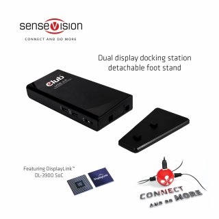 CLUB3D SenseVision USB 3.0 Dual Display Docking Station dokkoló
