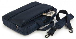 """Tucano Dritta Slim 15,6"""" Notebook táska - Kék szemből"""