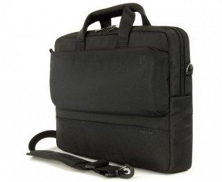 """Tucano Dritta Slim 15,6"""" Notebook táska - Fekete szemből"""