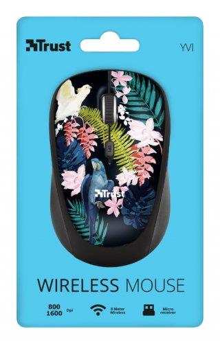Trust Yvi Wireless Mouse vezeték nélküli papagáj mintás egér