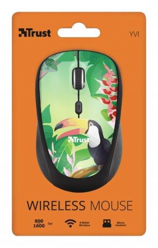 Trust Yvi Wireless Mouse vezeték nélküli tukánmadár mintás egér