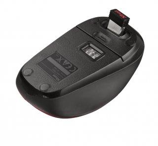 Trust Yvi Wireless Mouse vezeték nélküli piros egér