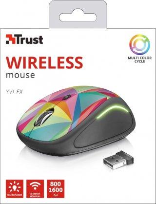 Trust Yvi FX Wireless Mouse geometrics vezeték nélküli egér