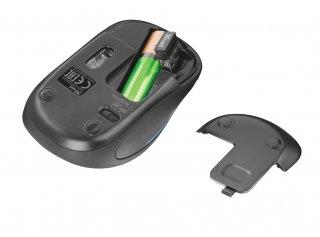 Trust Yvi FX Wireless Mouse vezeték nélküli fekete egér