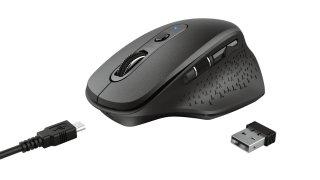 Trust OZAA újratölthető ergonomikus vezeték nélküli egér - fekete