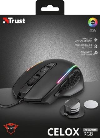 Trust GXT 165 Celox RGB Gaming Egér