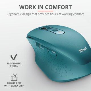 Trust Ozaa újratölthető ergonomikus vezeték nélküli egér - kék