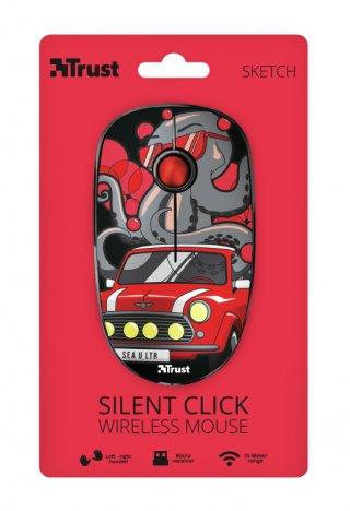 Trust Sketch Silent Click Wireless Egér- Piros