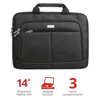 "Trust Sydney Slim Carry Bag 14"" notebook táska - Fekete"