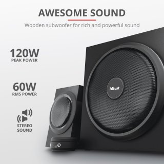 Trust Yuri 2.1 mélyhangsugárzós sztereó hangfal