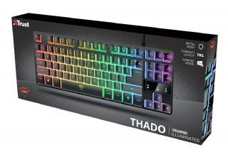 Trust GXT 833 Thado TKL RGB gamer billentyűzet (HU)