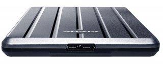 """ADATA AHC660 2,5"""" 2TB USB3.2 titán ezüst külső winchester"""
